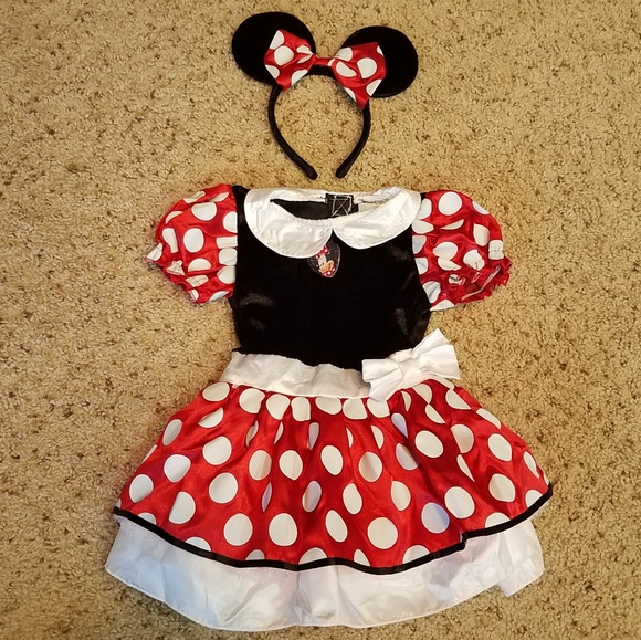 Disney Mickey Mouse Clubhouse 4 piece Costume Infant 12-24 months Brand New